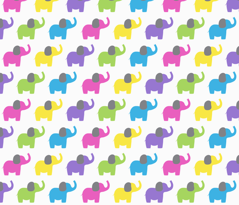 Ellie's Elephant Friends - Jewel fabric by littlebdesigns on Spoonflower - custom fabric