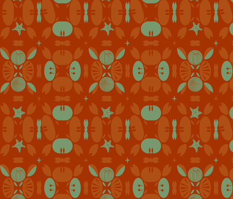 Crabby patty rolls fabric by wren_leyland on Spoonflower - custom fabric