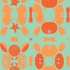 Crabby Patty Coral Aqua