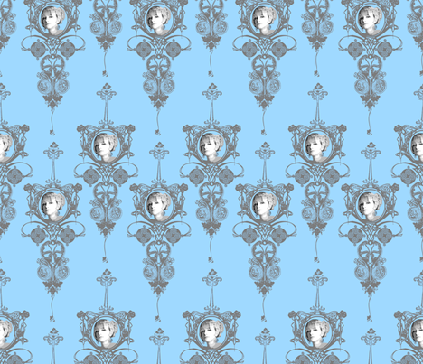 Vanity Tower-Robins Egg fabric by happyhappymeowmeow on Spoonflower - custom fabric