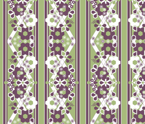 Geometric Flower Border Stripe_1d fabric by khowardquilts on Spoonflower - custom fabric