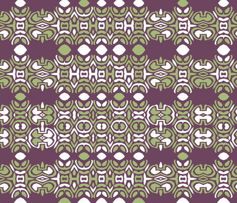 Geometric mayan limes fabric by wren_leyland on Spoonflower - custom fabric