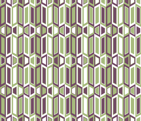 Parallelogram Trapezoid Stripe fabric by modgeek on Spoonflower - custom fabric