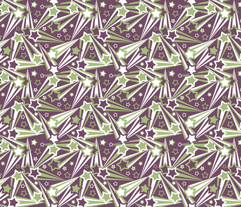 Space Stars 75 fabric by modgeek on Spoonflower - custom fabric