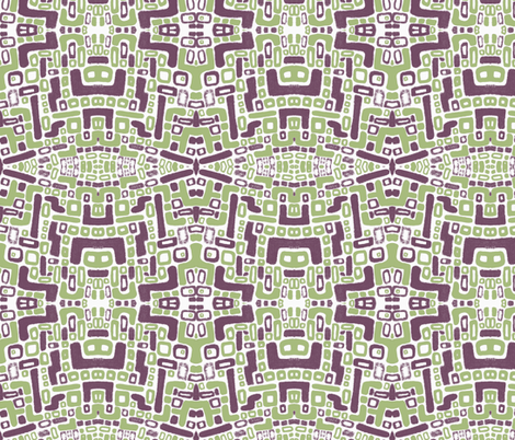just_shapes-geometric fabric by kcs on Spoonflower - custom fabric