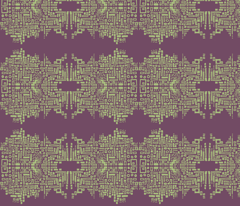 chain_of_shapes_2-olive & purple fabric by kcs on Spoonflower - custom fabric