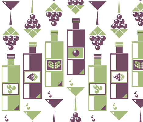 Modern Wine fabric by mayenedesign on Spoonflower - custom fabric