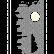 Graveyard Border in Black