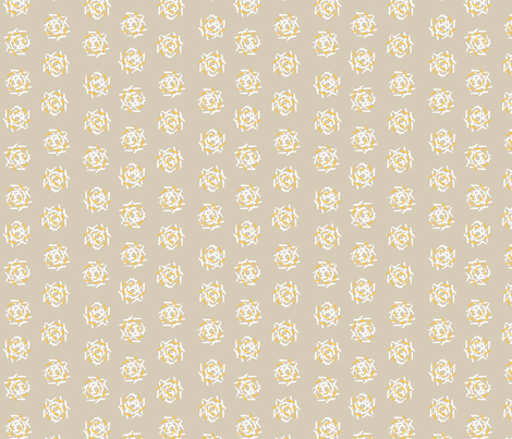 NEST in Grey and Yellow fabric by hitomikimura on Spoonflower - custom fabric