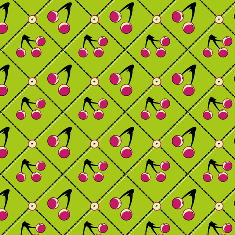 Tropicana Cherry fabric by eppiepeppercorn on Spoonflower - custom fabric