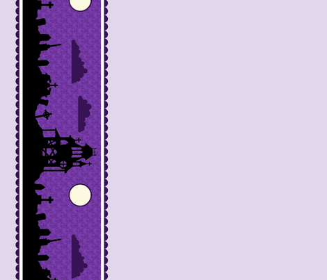 Graveyard Border in Grape
