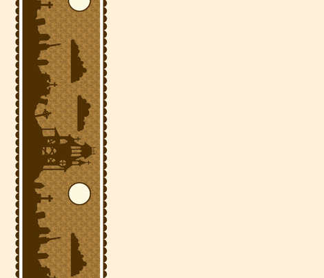 Graveyard Border in Cream