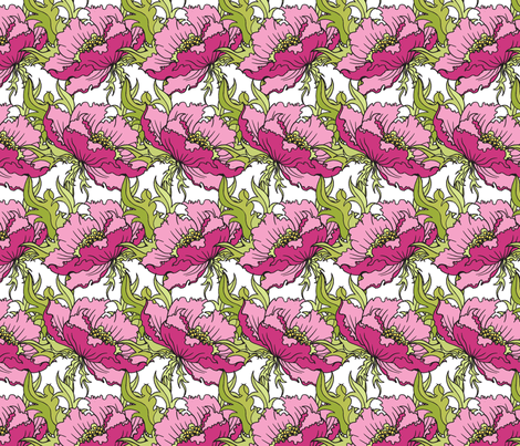 pretty floral fabric by deborartiste on Spoonflower - custom fabric