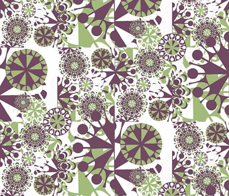 Garden Delight fabric by whimzwhirled on Spoonflower - custom fabric