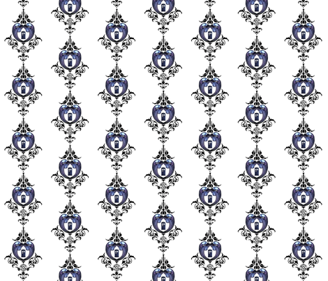 Doctor_Damask_1_large fabric by morrigoon on Spoonflower - custom fabric