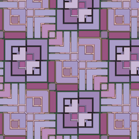 Metallic Square Mosaic 1 fabric by animotaxis on Spoonflower - custom fabric