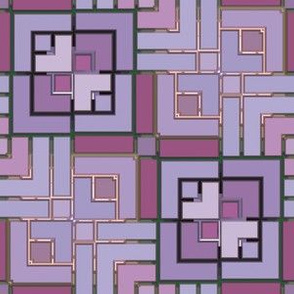 Metallic Square Mosaic 1