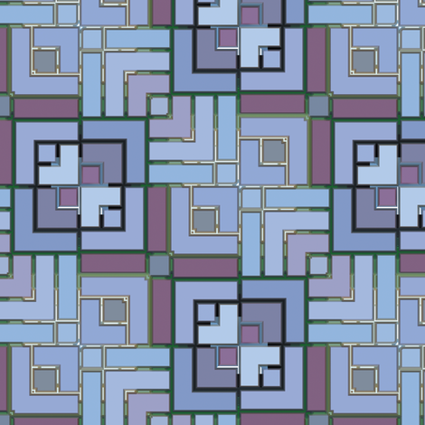 Metalic Square Mosaic 2 fabric by animotaxis on Spoonflower - custom fabric