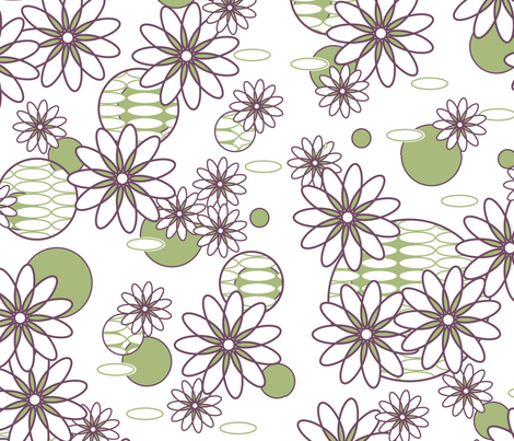 Daisy Chain fabric by designedtoat on Spoonflower - custom fabric