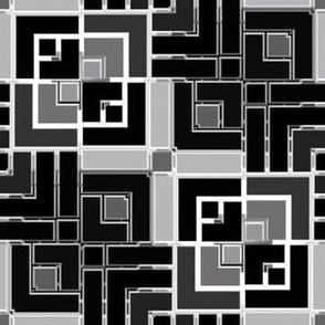 Metallic Square Mosaic 4