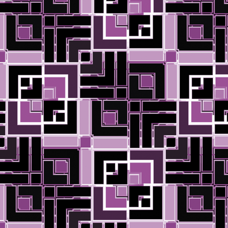 Metallic Square Mosaic 6 fabric by animotaxis on Spoonflower - custom fabric
