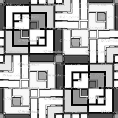 Metallic Square Mosaic 7