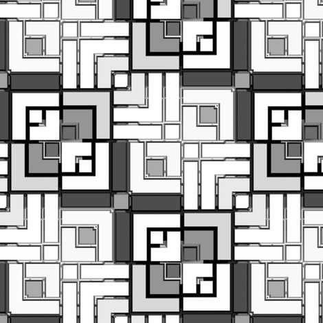 Metallic Square Mosaic 7 fabric by animotaxis on Spoonflower - custom fabric