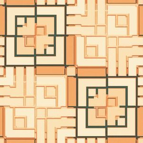 Metallic Square Mosaic 13