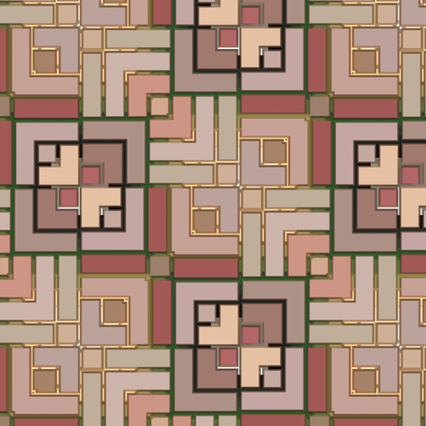 Metallic Square Mosaic 15 fabric by animotaxis on Spoonflower - custom fabric