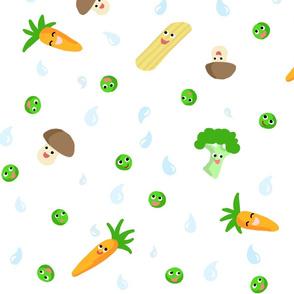 Happy Food Veggie White XL