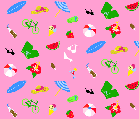 Summertime Pink XL fabric by johanna_lange_designs on Spoonflower - custom fabric