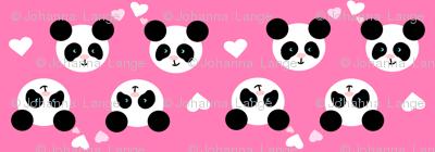 Panda Love Pink XL