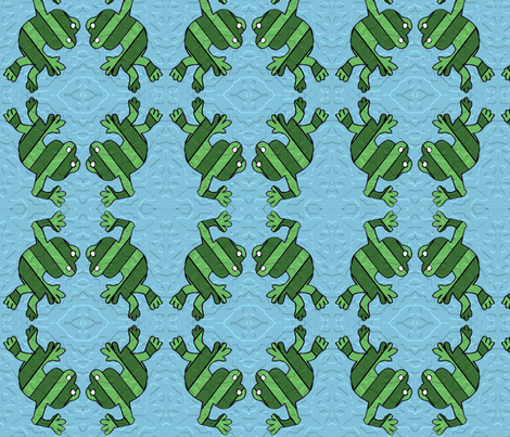 froggiepaintedcolour fabric by kali_d on Spoonflower - custom fabric