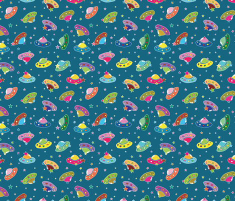 White_Outline_UFOs fabric by donnamarie on Spoonflower - custom fabric