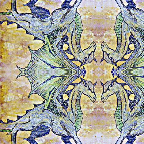 Ed the Dragon fabric by borealiscolor on Spoonflower - custom fabric