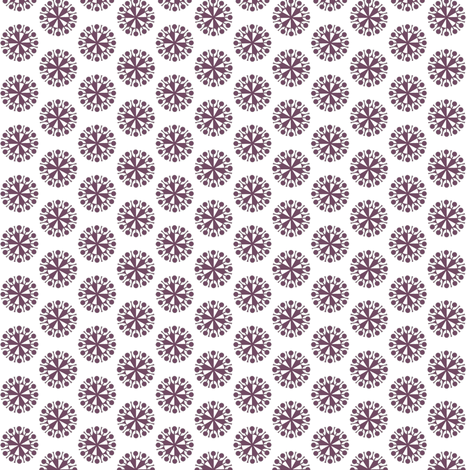Plum retro tiny flowers (Garden Delight collection) fabric by whimzwhirled on Spoonflower - custom fabric
