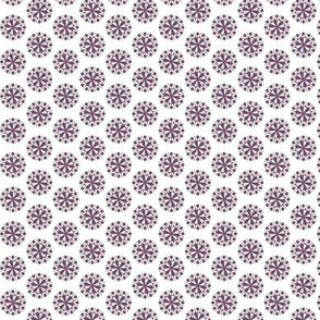 Plum retro tiny flowers (Garden Delight collection)