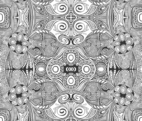 Bejeweled Lines fabric by ghennah on Spoonflower - custom fabric