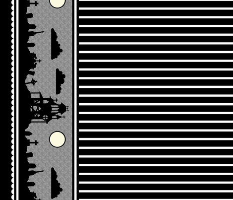 Graveyard Striped Border in Black