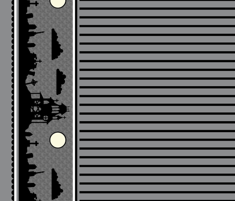 Graveyard Striped Border in Dark Gray