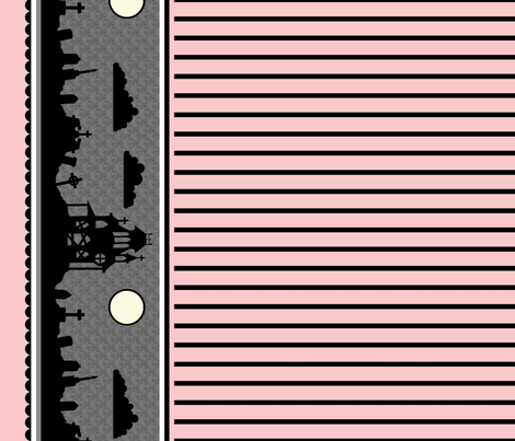 Graveyard Striped Border in Pink