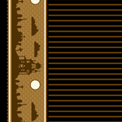 Graveyard Striped Border in Coffee