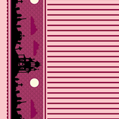 Graveyard Striped Border in Raspberry