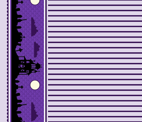 Graveyard Striped Border in Grape fabric by charmcitycurios on Spoonflower - custom fabric