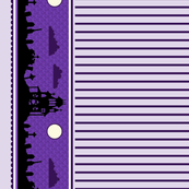 Graveyard Striped Border in Grape