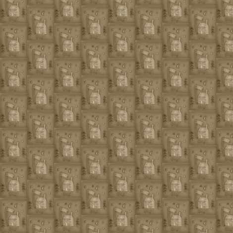 log_cabin_brown fabric by robin006 on Spoonflower - custom fabric