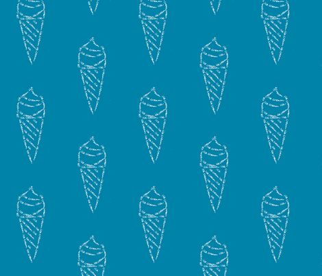 icecream calligram fabric by blue_jacaranda on Spoonflower - custom fabric