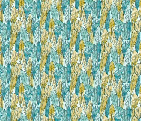 feathers fabric by cjldesigns on Spoonflower - custom fabric