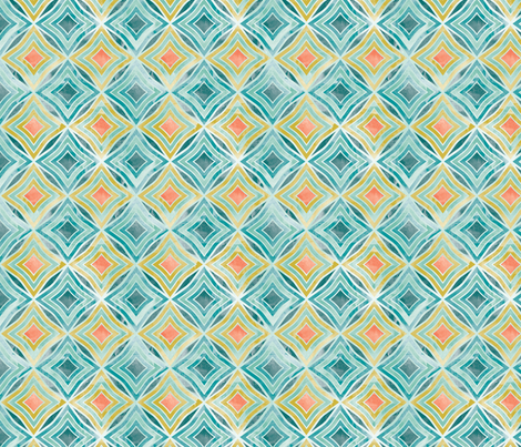 Garden Diamond Geometric fabric by cjldesigns on Spoonflower - custom fabric