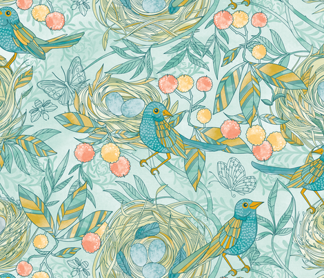 nest fabric by cjldesigns on Spoonflower - custom fabric
